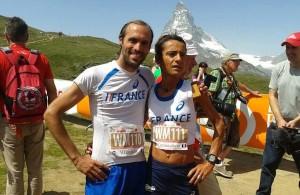 Laurent Vicente et Aline Camboulives - Championnats du Monde 2015 de course en montagne