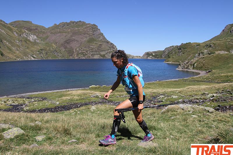 Jocelyne Pauly au lac bleu entre le Pic du midi et Hautacam