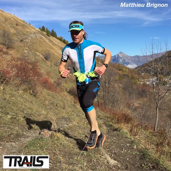 Matthieu Brignon, au départ de l'Endurance Trail 2015