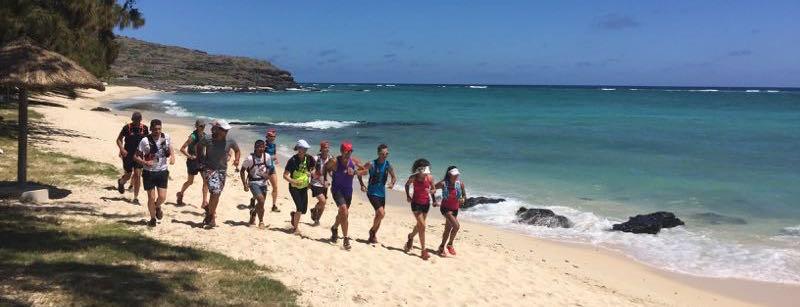 Trail de Rodrigues 2015-footing sur la plage