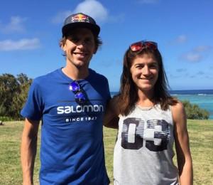 Trail de Rodrigues 2015- Ryan Sandes et Maud Gobert