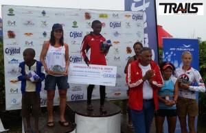 Trail de Rodrigues - podium dames 2015