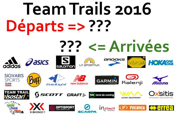 Teams Trails 2016