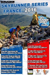 Affiche SKY RUNNER SERIES FRANCE 2016