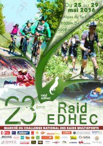 Affiche 23eme RAID EDHEC - partenaires