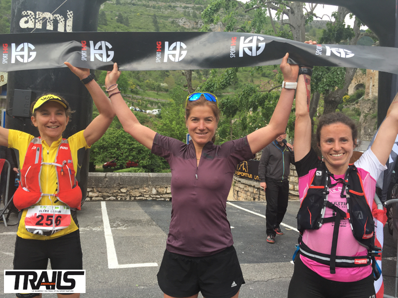 Lozere Trail 2016 - Fred Bousseau - podium dames ultra 2016