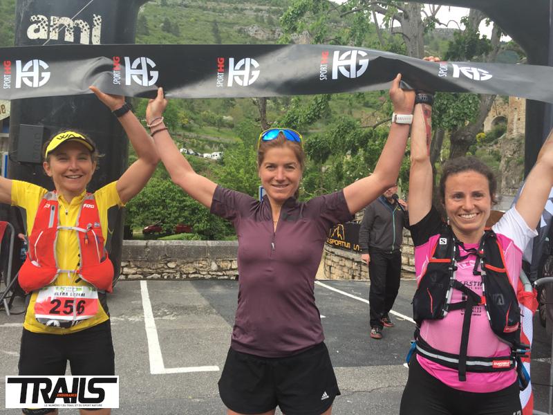Lozere Trail 2016 - Fred Bousseau - podium dames ultra 2016