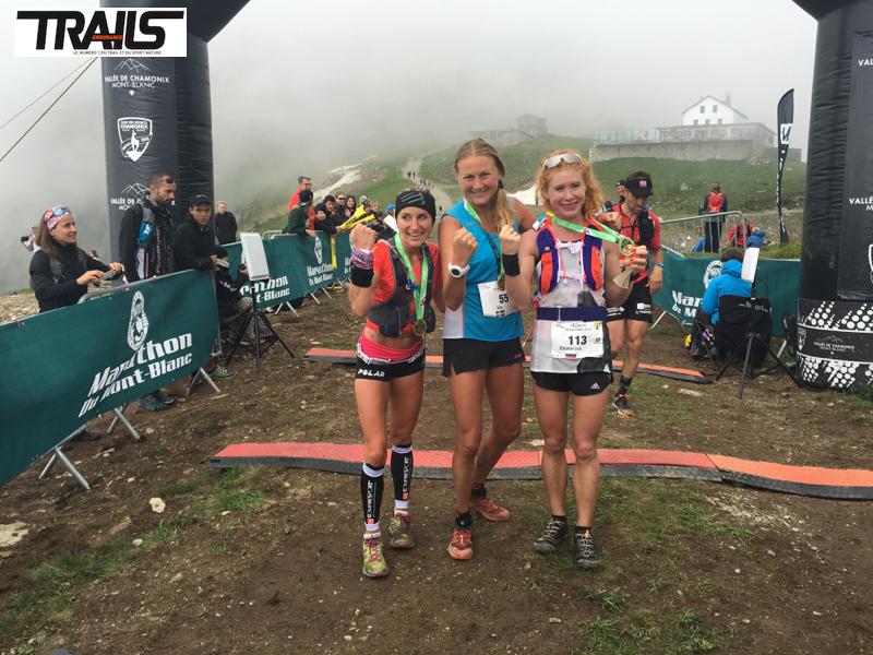 Photos Marathon du Mont-Blanc 2016 - Fred Bousseau - podium femmes