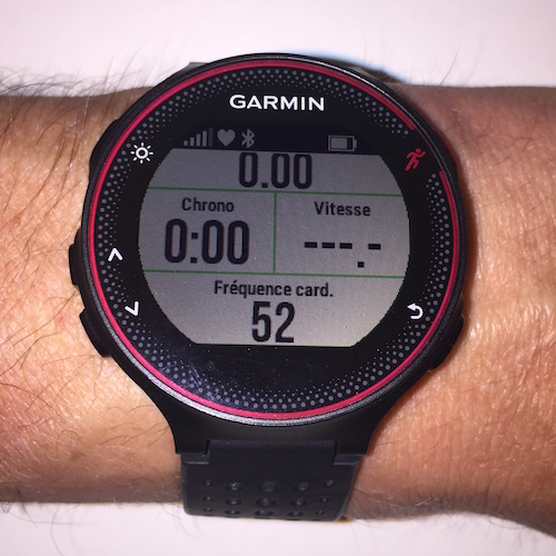 Test Garmin 235 - tableaux activites