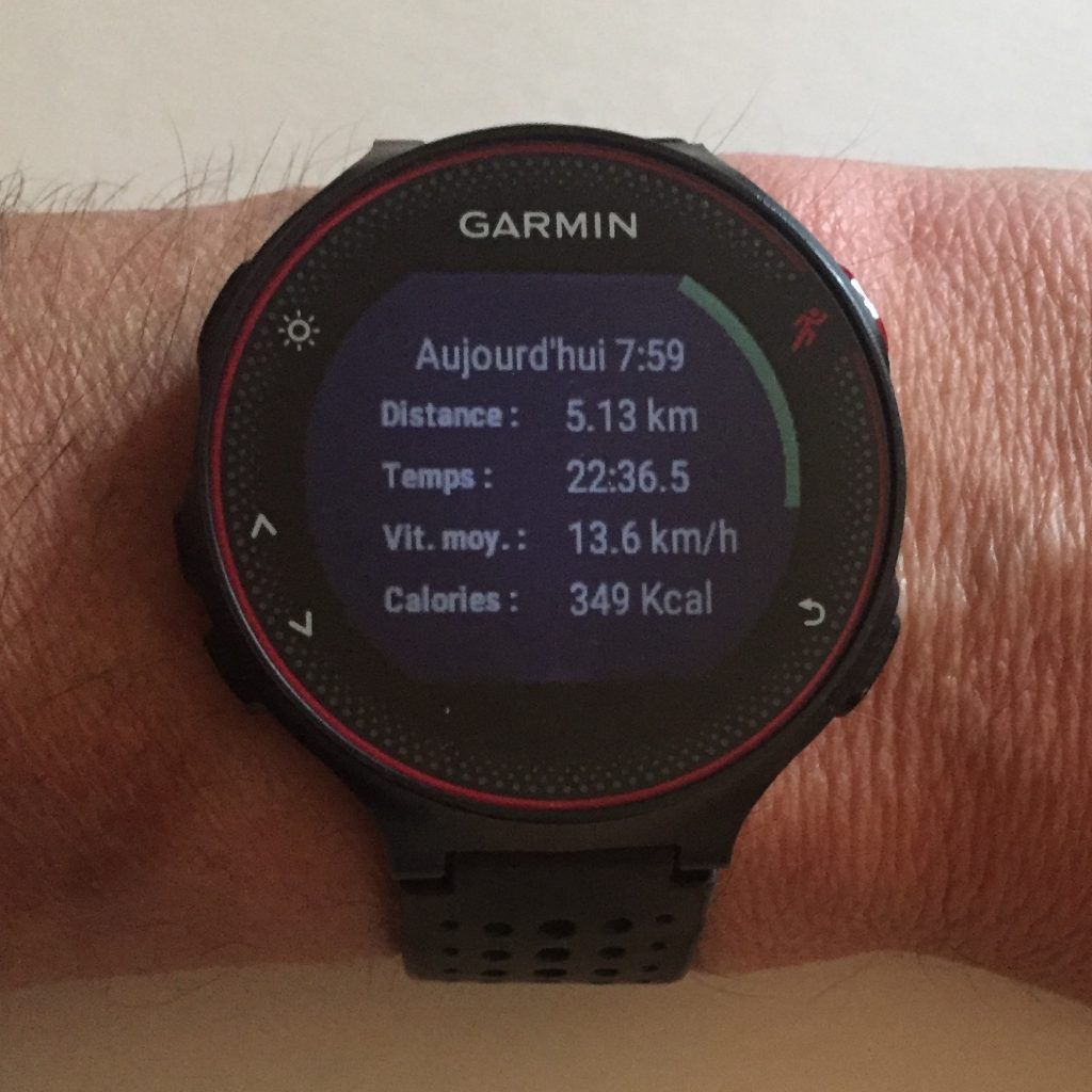 Test Garmin montre 235