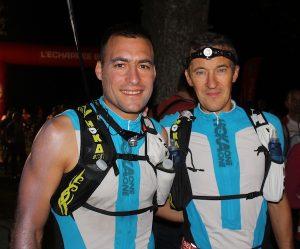 Lionnel Trivel et Renaud Rouanet sur la ligne de départ