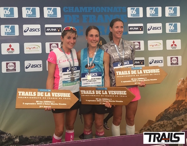 Championnat de France de Trail 2016 - podium dames