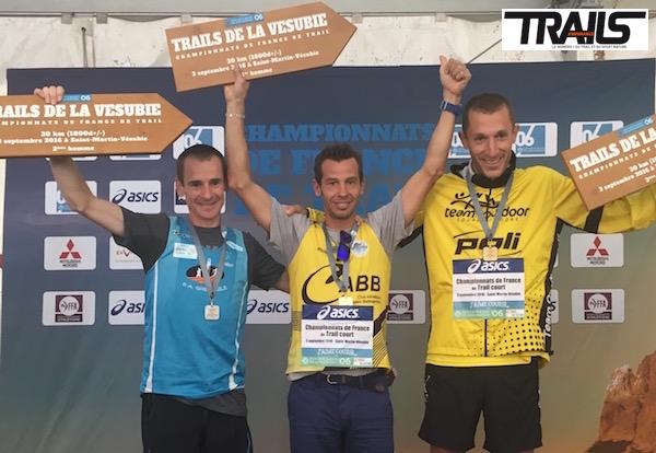 Championnat de France de Trail 2016 - podiums hommes