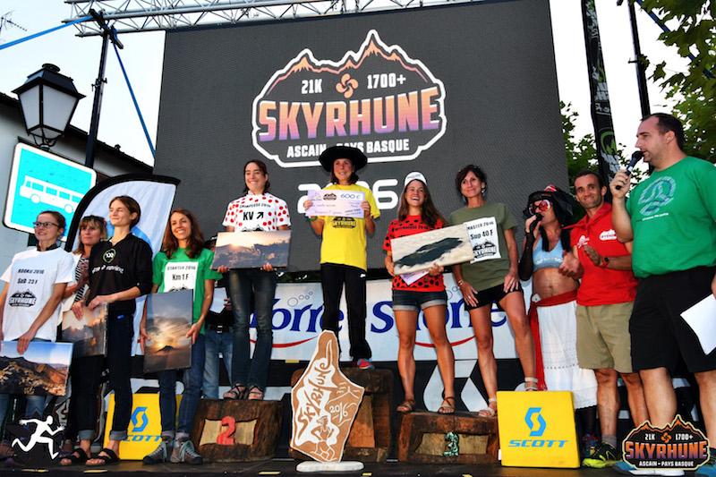 Skyrhune 2016 - podiums femmes