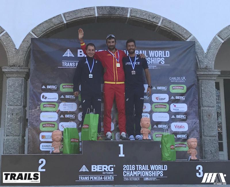 Championnats du Monde de Trail 2016 - Fred Bousseau - podium mens