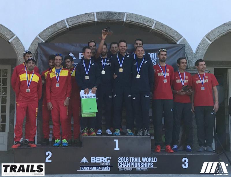 Championnats du Monde de Trail 2016 - Fred Bousseau - podium team Mens