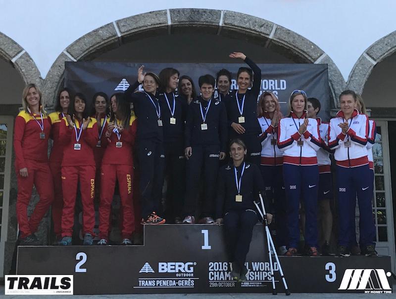 Championnats du Monde de Trail 2016 - Fred Bousseau - podium teams womens