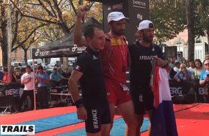 Championnats du Monde de Trail 2016 - podium hommes