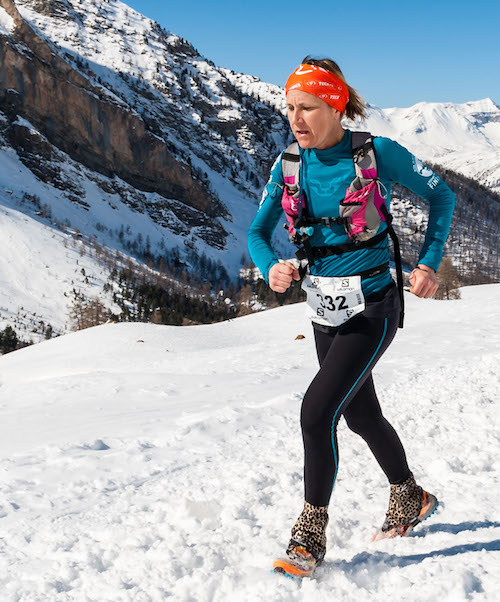 Irina Malejonock snow trail Ubaye Salomon