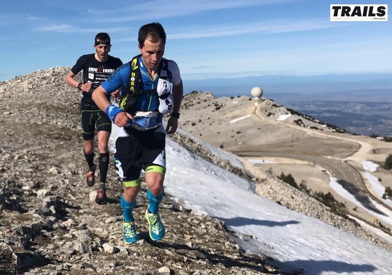 Photos Trail du Ventoux 2017- Fred Bousseau - Nico Martin et Romain Maillard au sommet