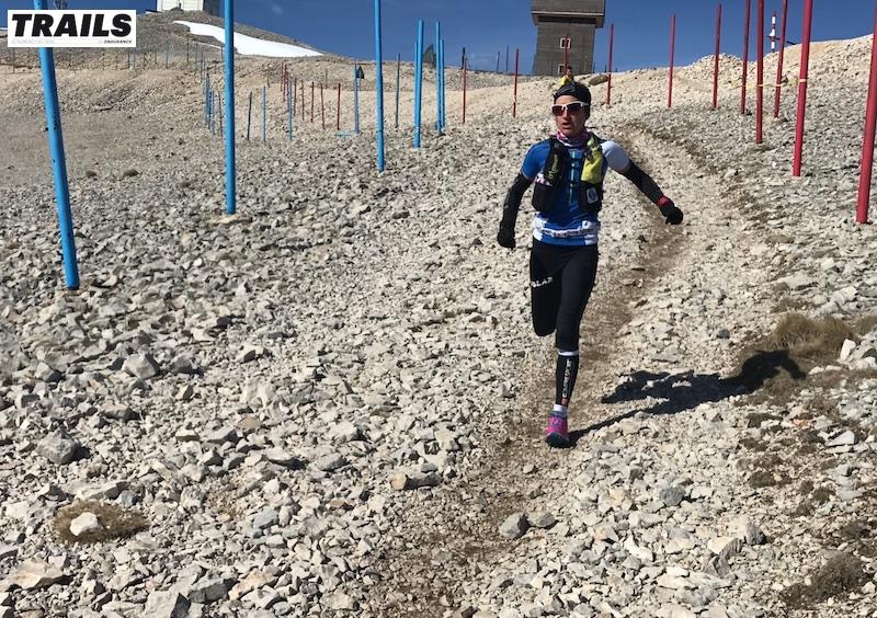 Photos Trail du Ventoux 2017- Fred Bousseau - Amandine ferrato après le sommet