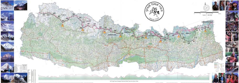 Great Himal Race 2017 - carte