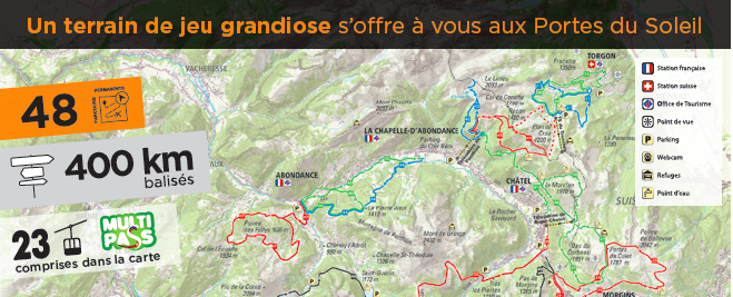 Les Portes du Soleil - trail running, 48 parcours pour 400 km