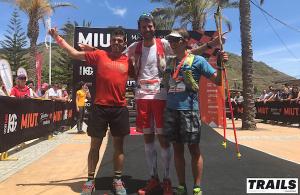 MIUT 2017 - podium hommes François D'Haene, Pau Capell et Xavier Thévenard