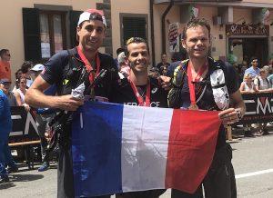 Mondiaux de Trail, Cedric Fleureton, Ludo Pommeret et Benoit Cori.