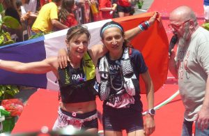 Adeline Roche Championne du Monde de Trail 2017, devant Amandine ferrato