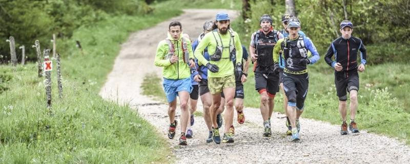 Stéphane Brogniart, bien accompagné lors de la traversée du Jura 2017