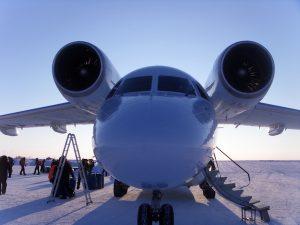 North Pole Marathon - avion