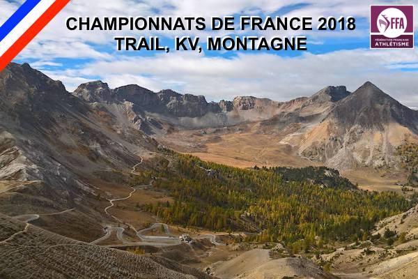 Championnats de France 2018 & 2019, Trail, KV et Montagne.
