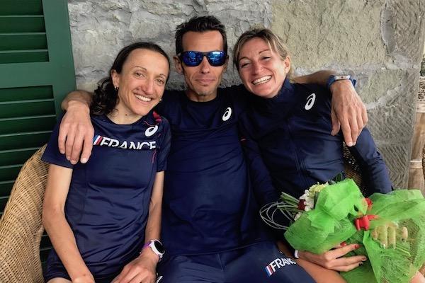 Mondiaux de Trail - Cedric Fleureton, amandine Ferrato et Adeline Roche