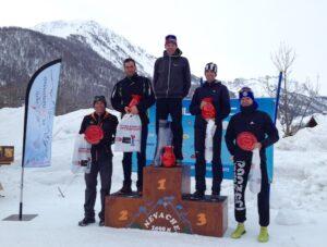 Podium Trail Blanc de la clarée 2018 20km-hommes
