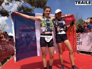 Mondiaux de Trail 2018 - Fred Bousseau - Claire Mougel et Adeline Roche