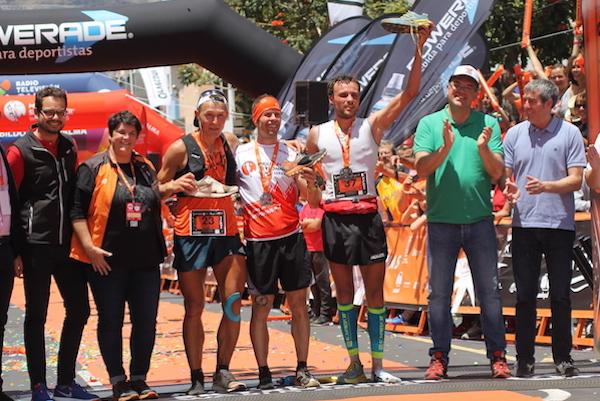 podium hommes transvulcania 2018