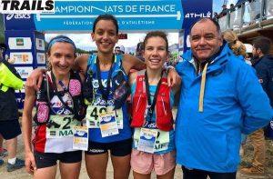 Championnats de France de Trail court 2018 - podium scratch dames