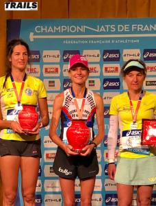 Championnats de France de Trail long 2018 - podium dames