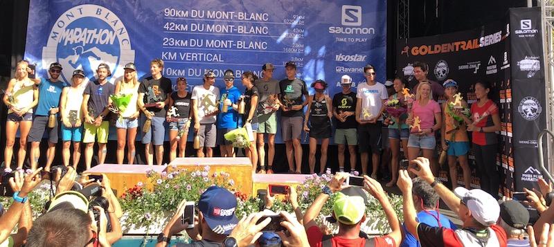 Podiums 2018 - marathon du Mont-Blanc