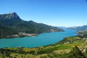 F. d'Haene,tour du lac de Serre-Ponçon