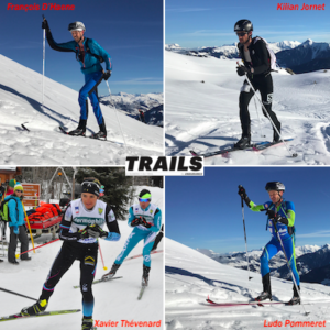 4 derniers vainqueurs de l'UTMB au départ de la Pierra menta hiver 2019