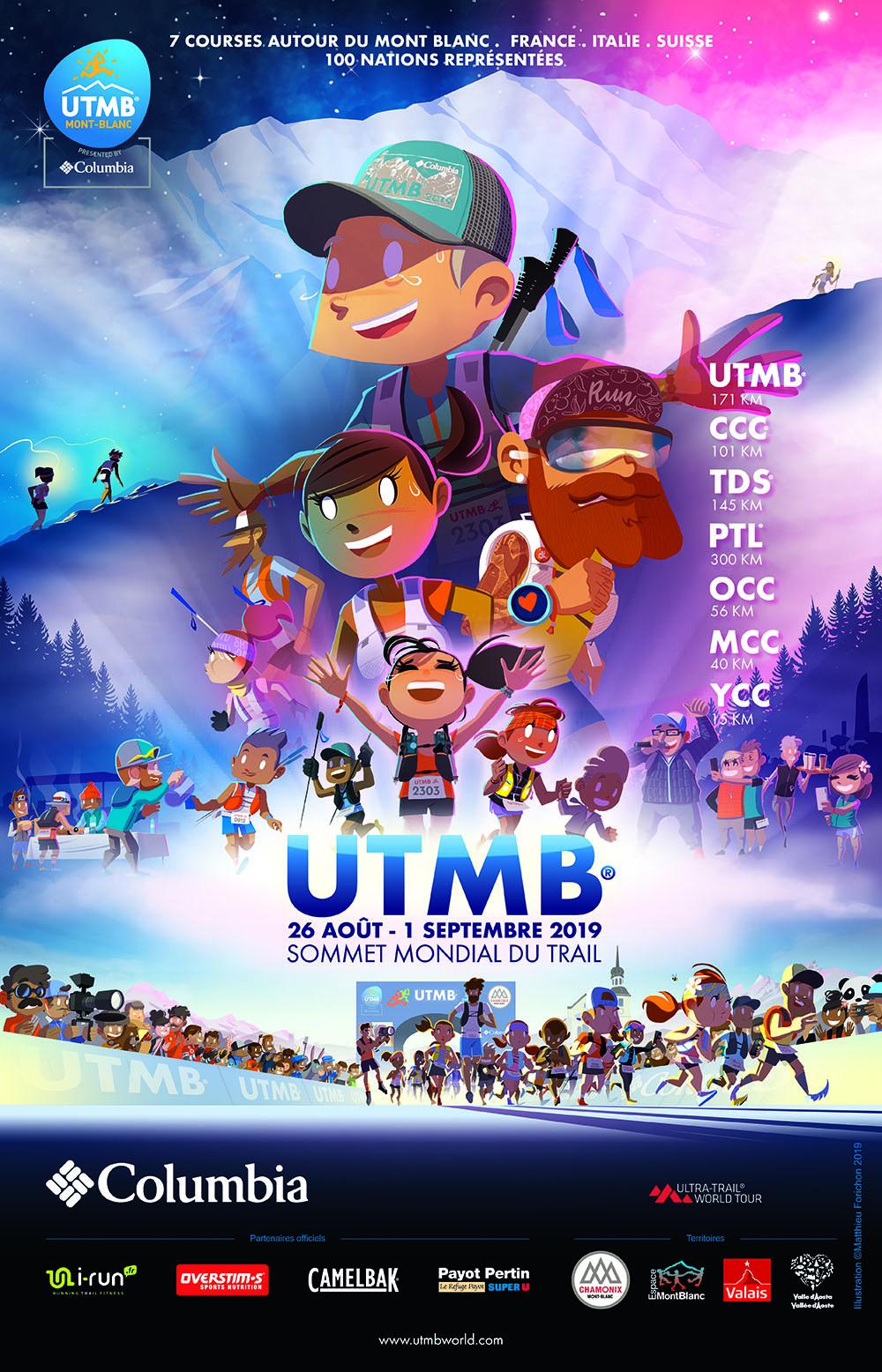 Affiche UTMB 2019 - Matthieu Forichon