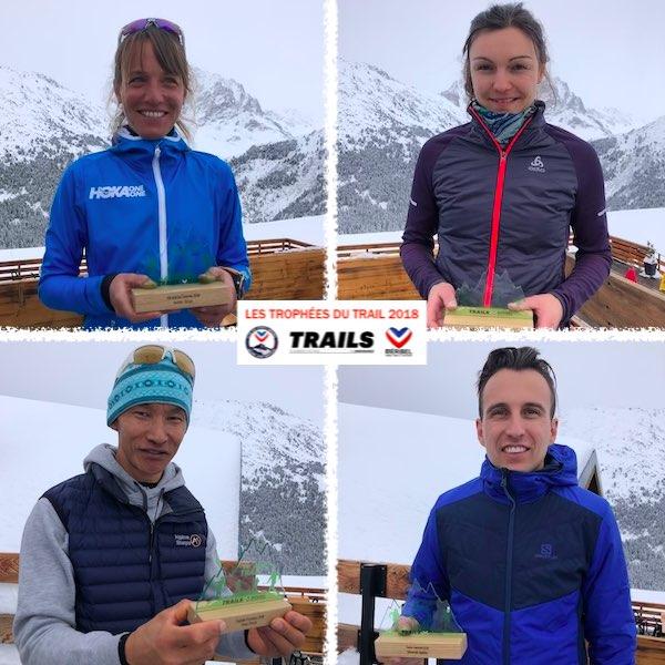 TROPHÉES DU TRAIL 2018 - LES LAURÉATS - Audrey Tanguy, Claire Mougel, Sébastien Spehler et Dawa Sherpa