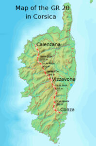 carte du GR 20