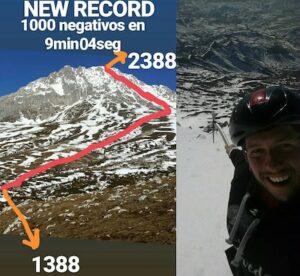 Manuel Merillas - record du monde de descente sur 1000 m en 9'04