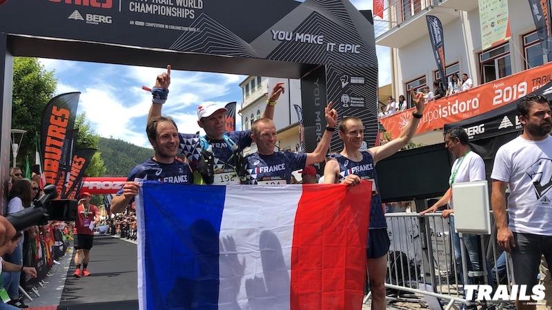 Mondiaux de Trail 2019 - podium hommes World Championships - Fred Bousseau