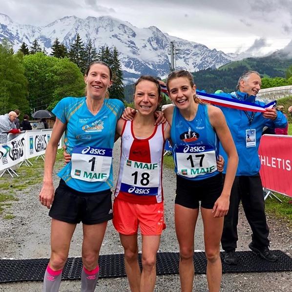 Podium dames Championnat de France de course en montagne 2019