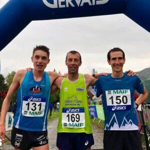 Podium hommes Championnat de France de course en montagne 2019