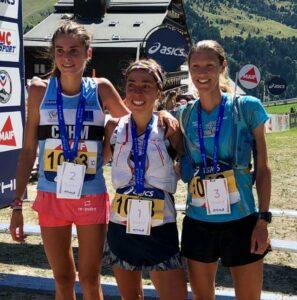 Podium femmes Championnats de France de Trail court 2019